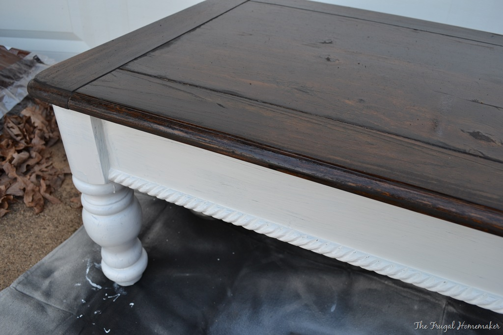 Day 10 paint some furniture for Painting wood table black