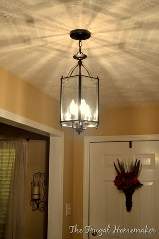 what i started with your basic builder grade brassy dome light. Black Bedroom Furniture Sets. Home Design Ideas
