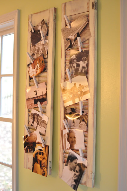 photos tucked in shutters