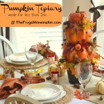 DIY Pumpkin topiary