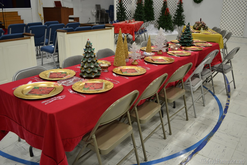 Christmas Dinner Table Ideas from Our Churchs Celebration