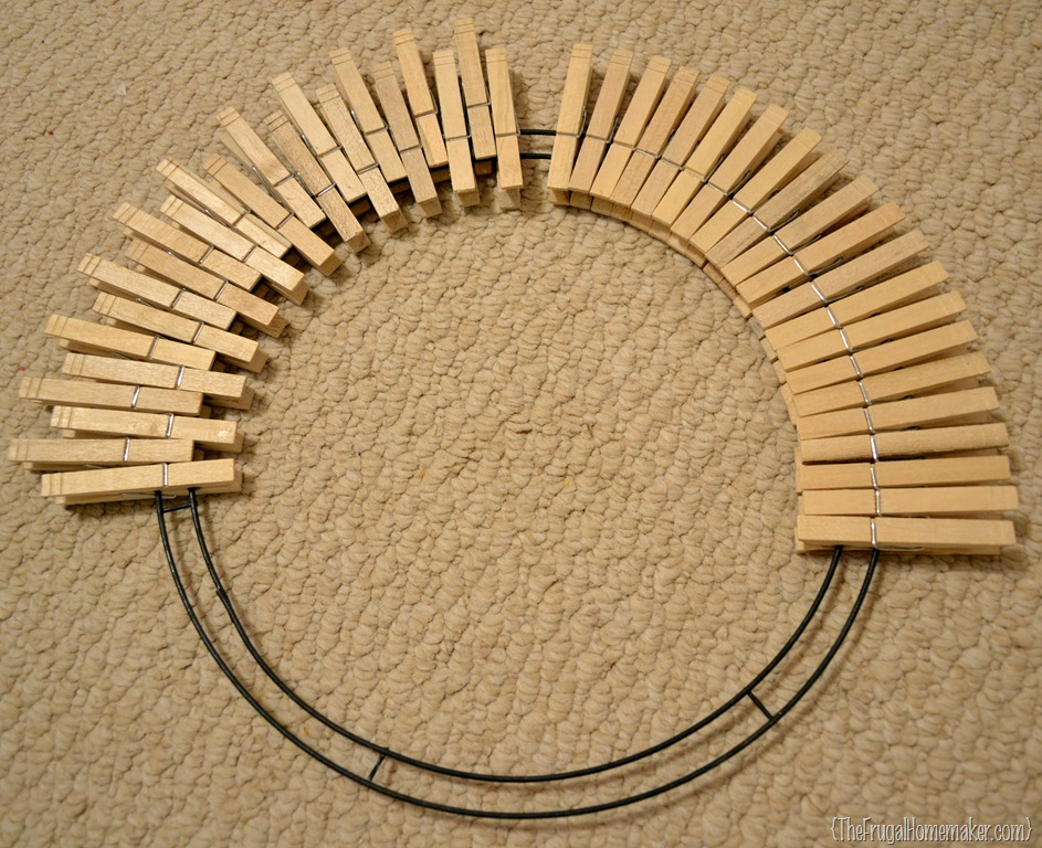 Pinterest Inspired Project Clothespin Wreath