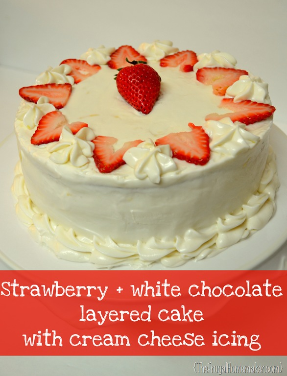 Strawberry Cake With Cool Whip Icing