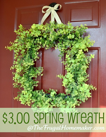 spring front door wreathsWhite and yellow Summer wreath made with yard sale finds