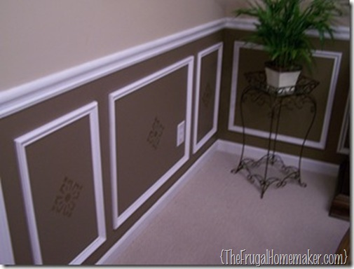 Dining Room Color Schemes Chair Rail before/after dining room reveal