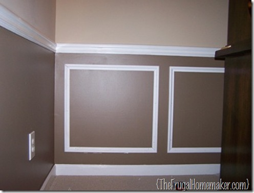 Before after dining room reveal for Dining room wainscoting