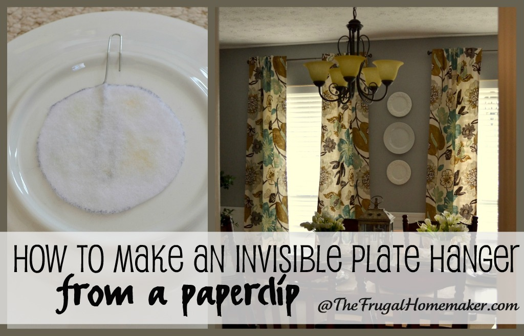 Hanging plates on the wall (with DIY FREE plate hangers)