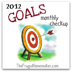 2012 goals monthly checkup