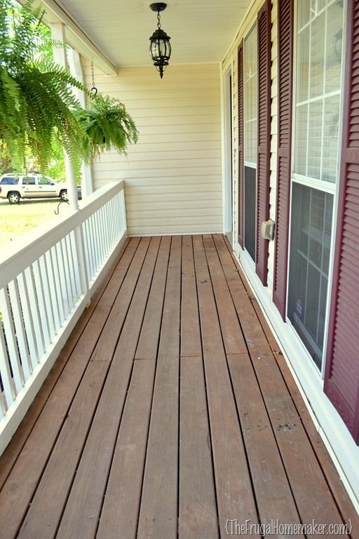 Front Porch Part 1 New Paint And Stain Sprucing Up The