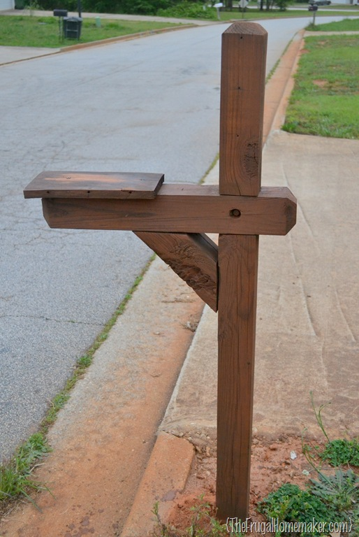 Mailbox Stand Designs : No cost mailbox re do sprucing up the outdoors for spring