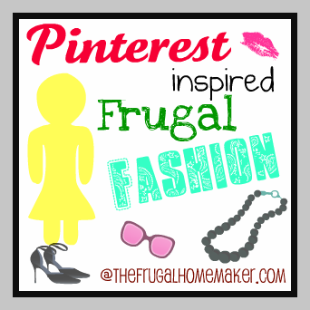 Pinterest and yard sale inspired Frugal Fashion