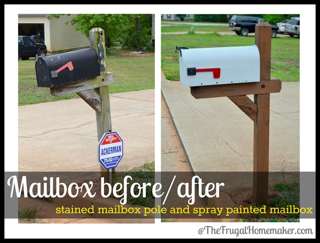 No cost mailbox re-do {Sprucing up the outdoors for spring series}
