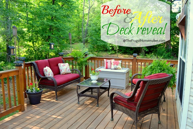 Before/after Deck reveal {Sprucing up the outdoors for Spring series}