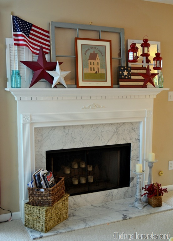 Summer Begins With Some Red White And Blue Summer Patriotic Mantel