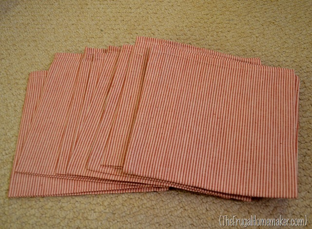 red and white napkins