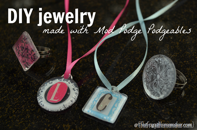 DIY jewelry made with Mod Podge
