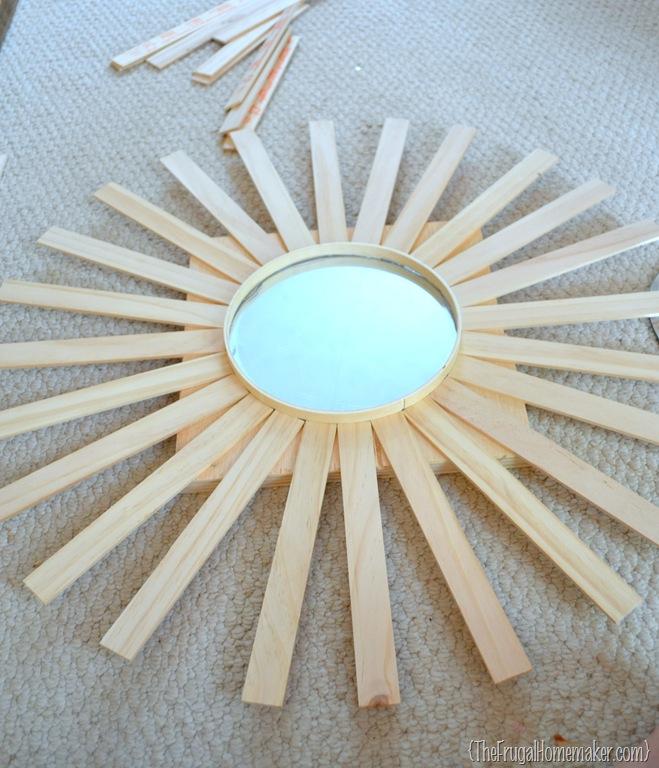 Wall Art Mirror Diy : Diy sunburst mirror wall art