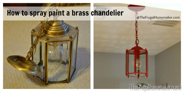 How to spray paint a brass light fixture