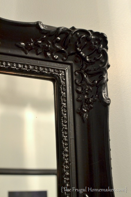 How to spray paint a mirror frame