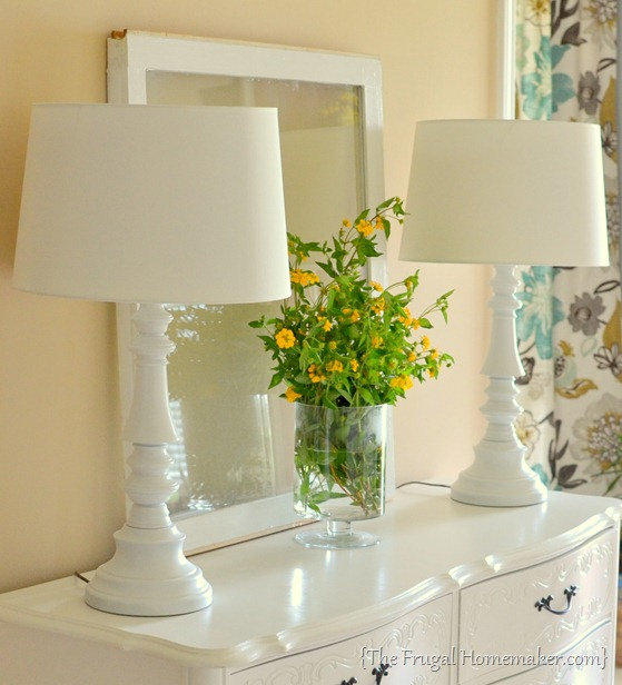 yes you can spray paint those thrift store brass lamps. Black Bedroom Furniture Sets. Home Design Ideas