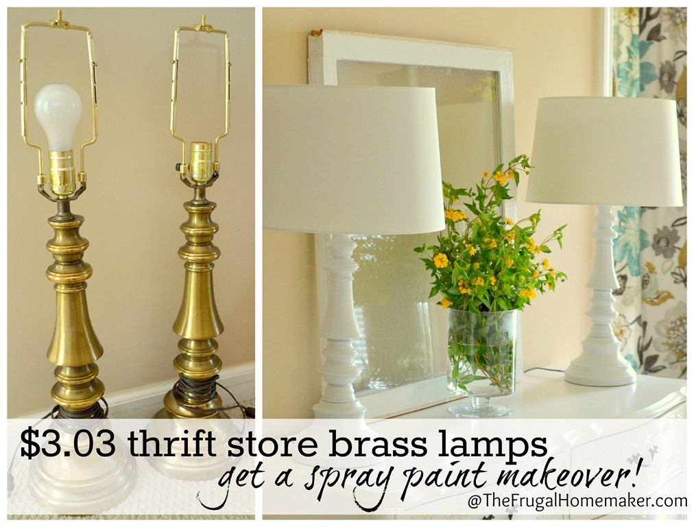 revamp my lamp 10 spray painted lamp ideas refunk my junk. Black Bedroom Furniture Sets. Home Design Ideas