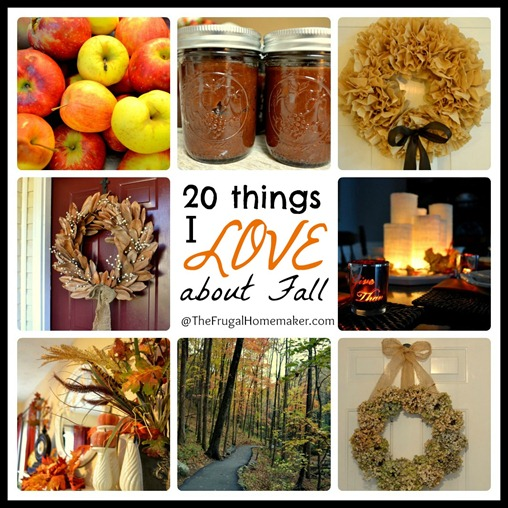 20 things I love about fall