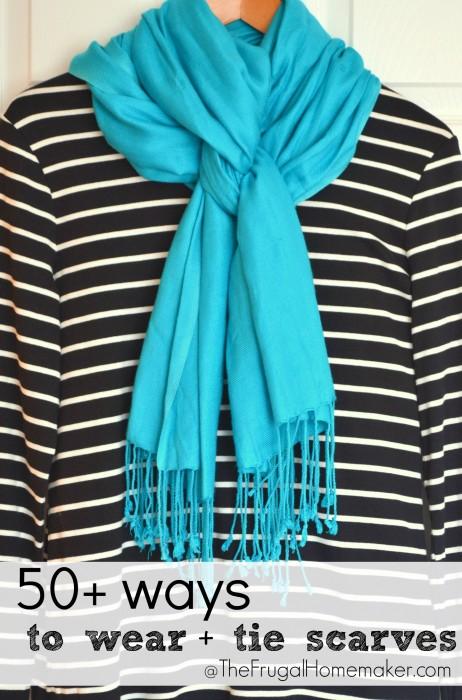 50+ ways to wear scarves