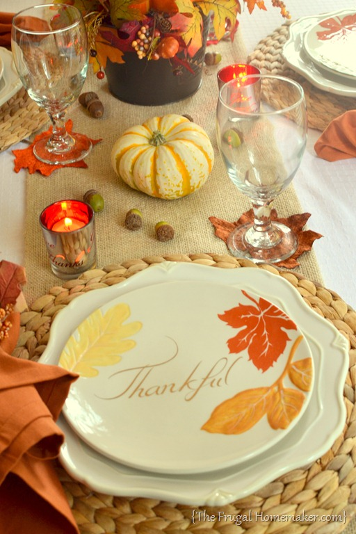 Fall table featuring items from the better homes Better homes and gardens christmas special