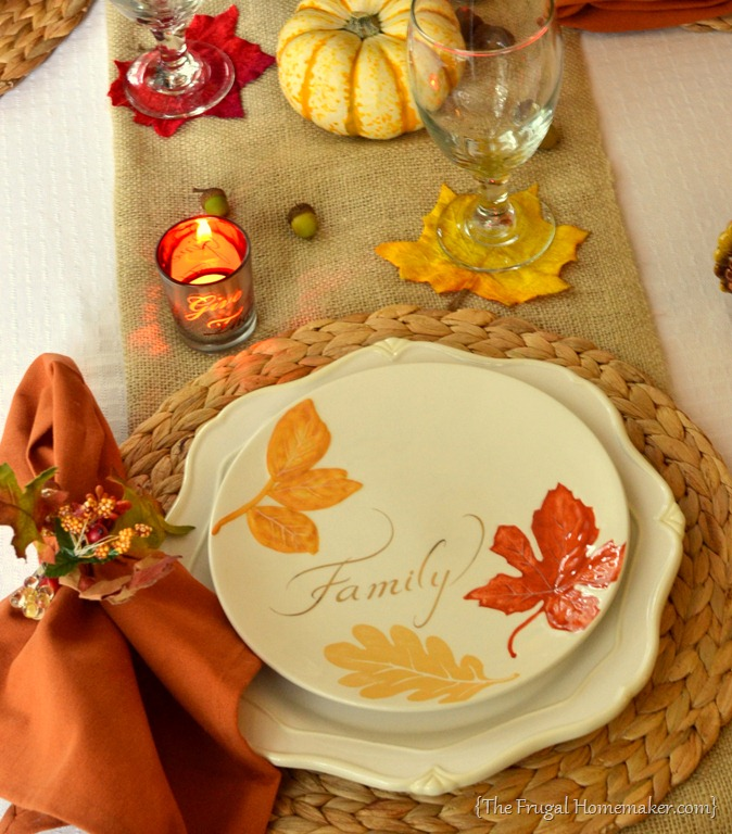 Fall table featuring items from the better homes