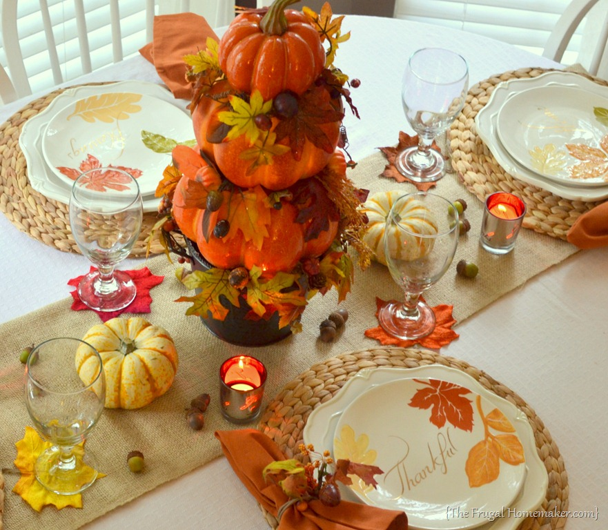 Fall table with Better Homes and Gardens dishes & Fall Table featuring items from the Better Homes \u0026 Gardens line at ...