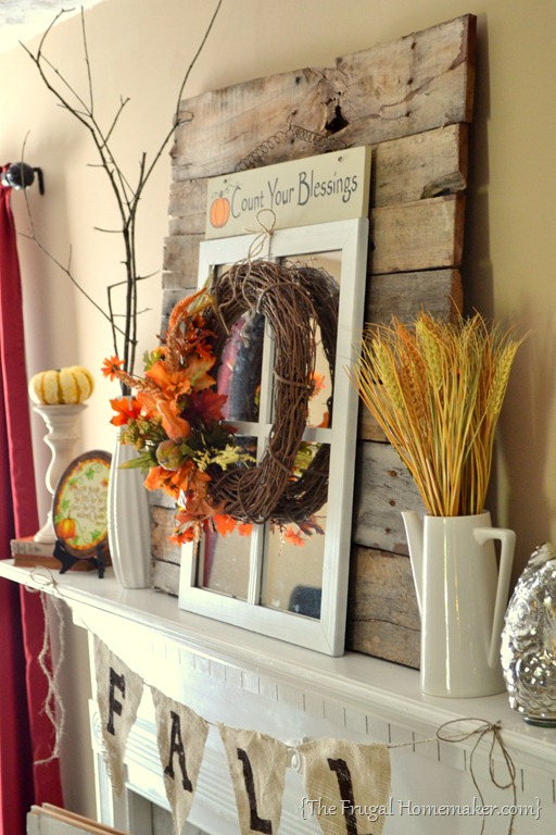 Garden Centre: Fall Mantel {decorated With Reclaimed Pallet Wood}
