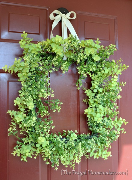 Green square wreath