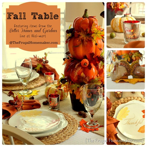 Fall Table via TheFrugalHomemaker.com