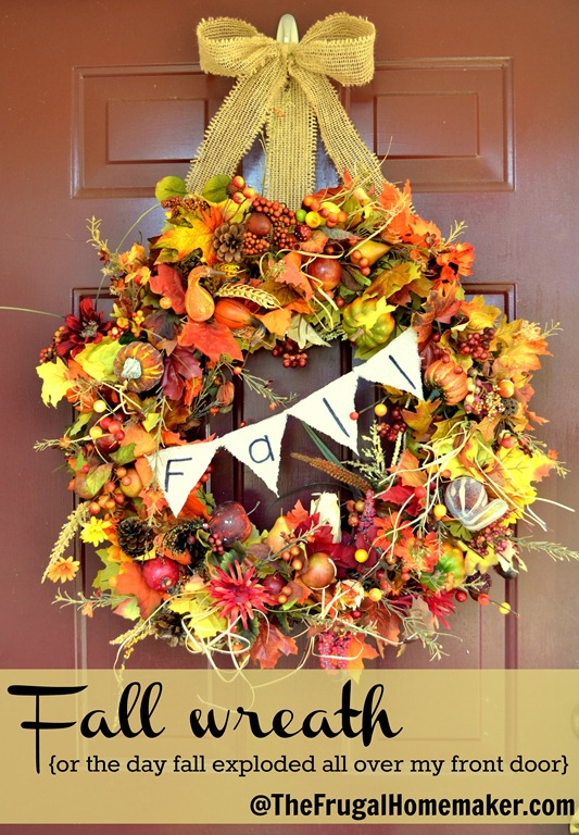 Fall wreath {or the day Fall exploded all over my front door}