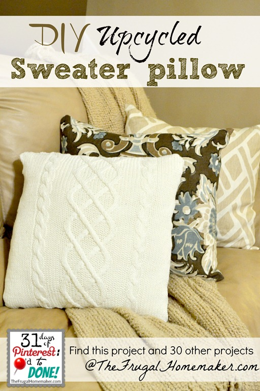 Diy Upcycled Diy Upcycled Sweater Pillow