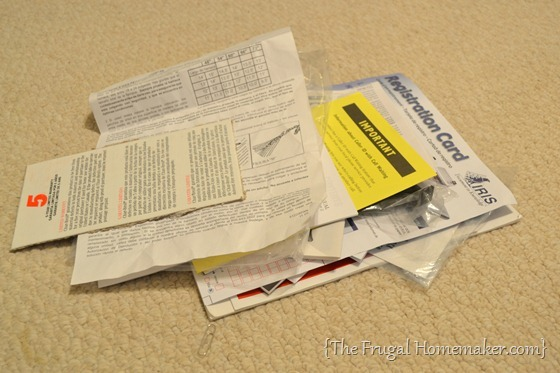 How to organize user manuals and receipts