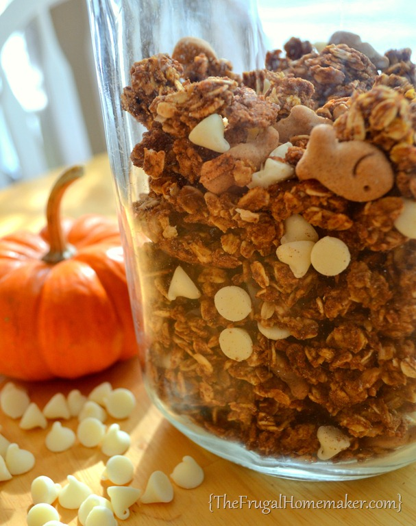 Pumpkin Pie Granola {day 6 of 31 days of Pinterest: Pinned to DONE}
