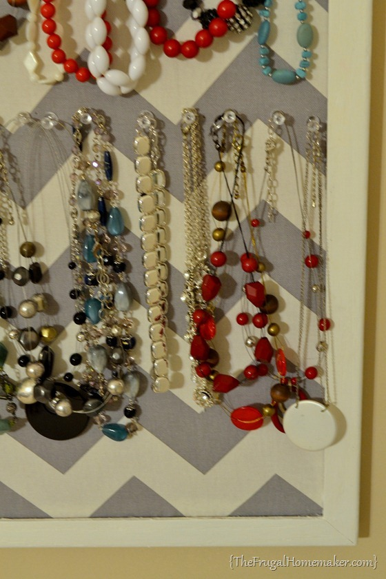 DIY Jewelry Organizer day 15 of 31 days of Pinterest Pinned to Done