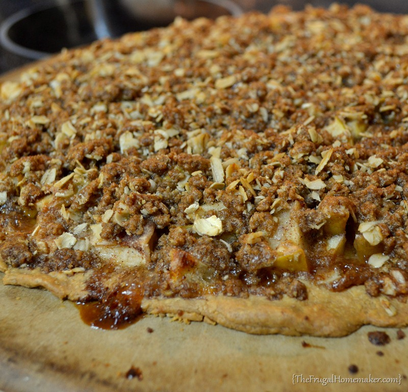 crisp apple crisp apple crisp apple crisp pizza with caramel sauce ...