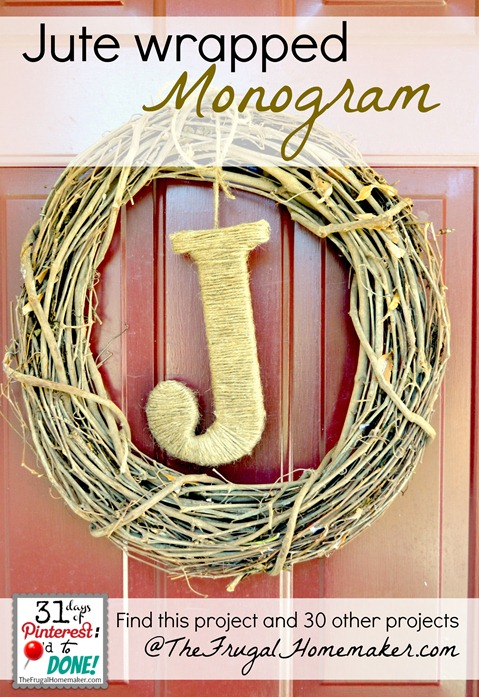 Jute wrapped monogram