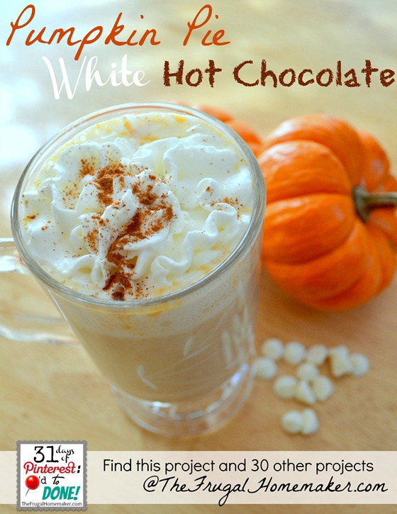 Pumpkin Pie White Chocolate {day 20 of 31 days of Pinterest: Pinned to Done}