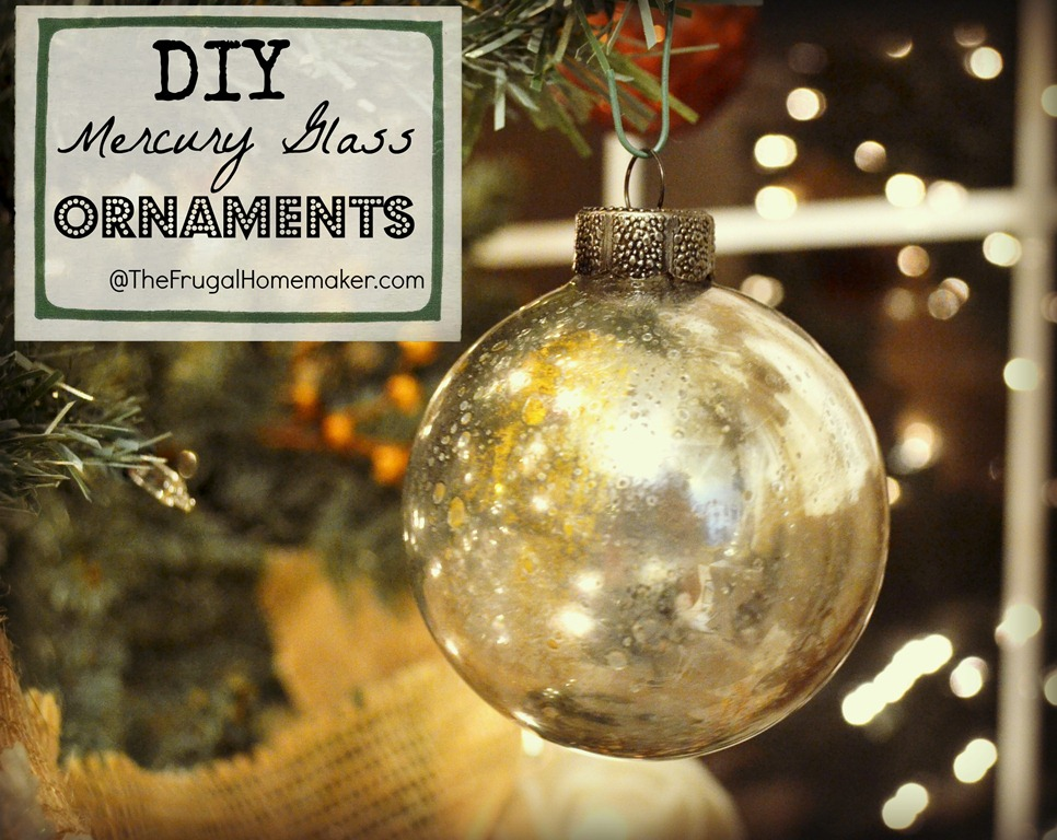 diy mercury glass ornaments - Glass Christmas Bulbs For Decorating