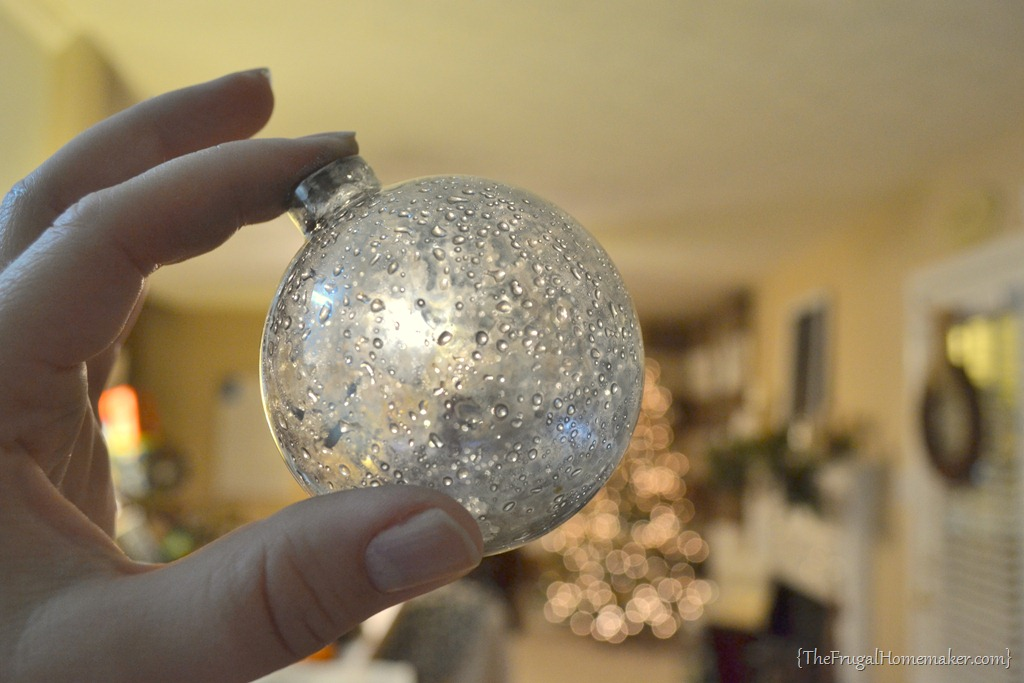 Glass Ball Ornaments With Paint Inside
