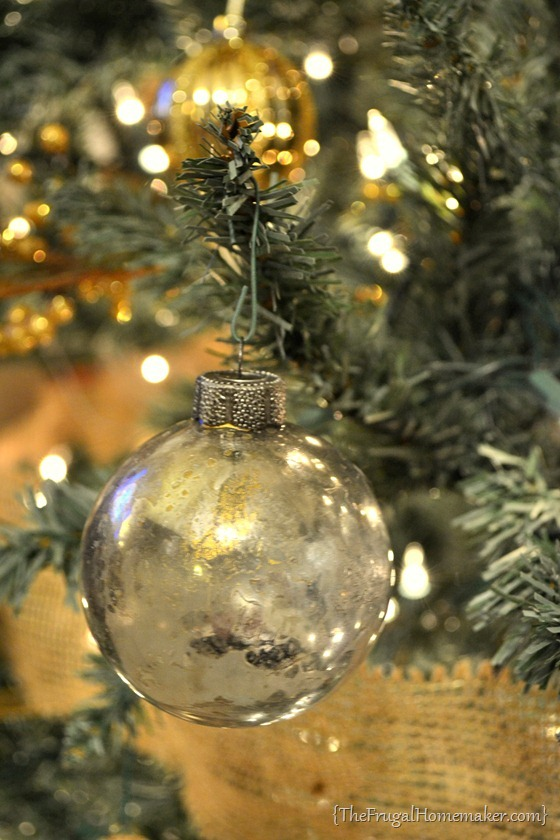 diy mercury glass ornaments - Mercury Glass Christmas Decorations