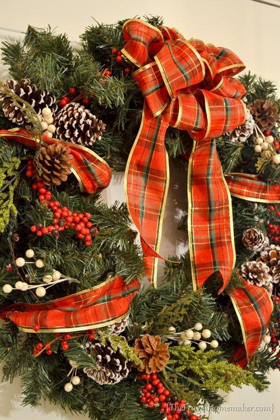 Faux Evergreen Wreath tutorial