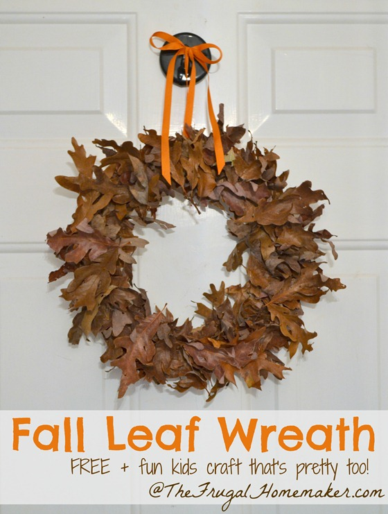 Fall Leaf wreath (FREE kids craft + fall décor)