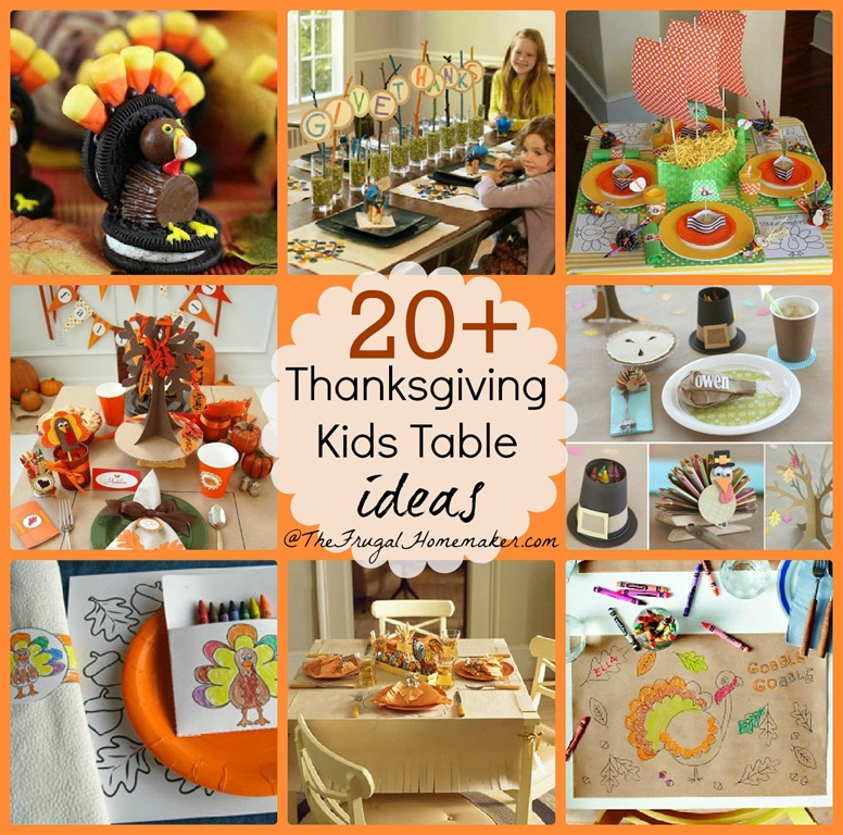 20 thanksgiving kids table ideas Decorating thanksgiving table