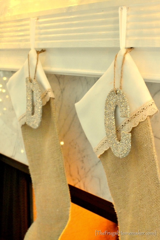DIY Burlap & Lace Stockings