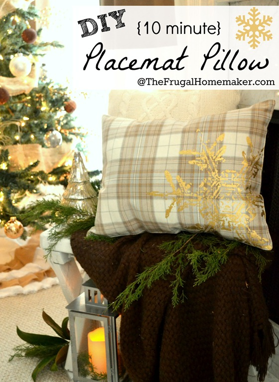 Placemat pillow