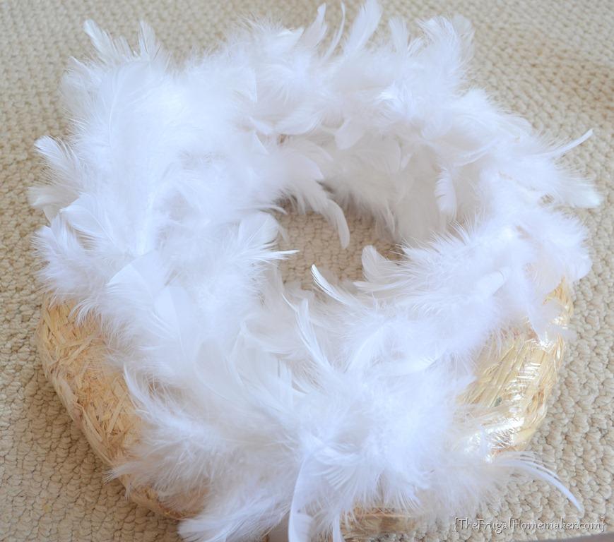 Winter White Feather Wreath